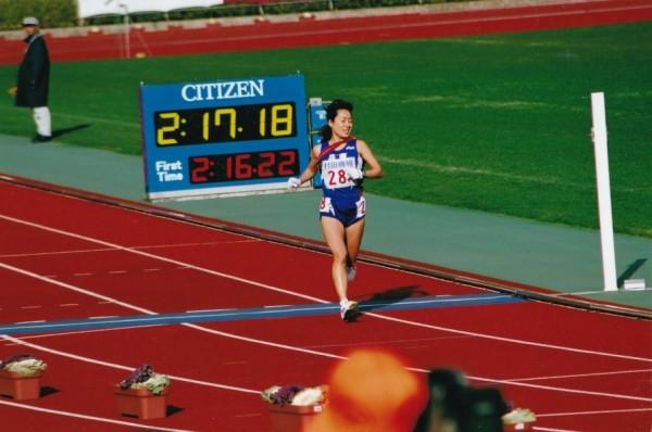 2015年都道府県対抗女子駅伝のゴールの瞬間