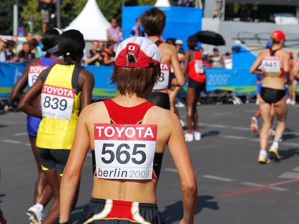 2009年ベルリン世界陸上競技大会スタート前