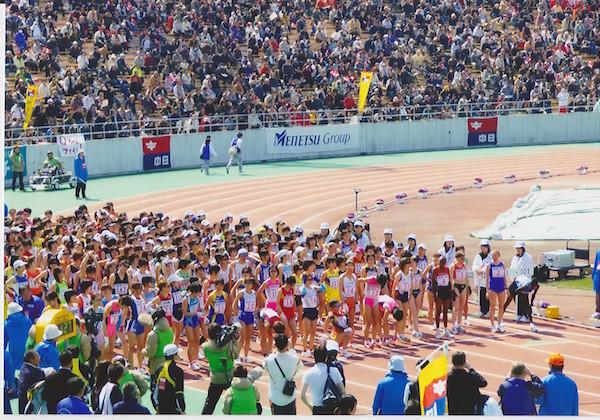 2008年名古屋国際女子マラソンスタート前