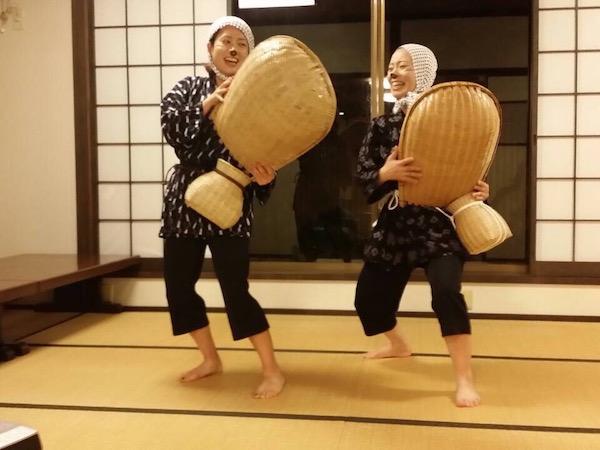 安来伝統芸「どじょう掬い」