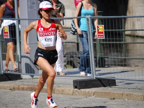 2009年ベルリン世界陸上競技大会を走る加納由理